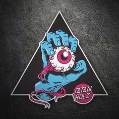 Pegatinas: Satan Rulz #skate #surf #pegatina #sticker