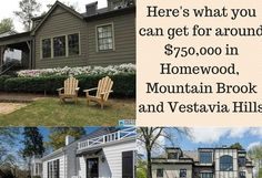 A recently remodeled home with classic style, a modern two-story house with great views and a historic residence with lots of charm, all for around the same price. Here's what you get for between $724,000 and $799,900 in Homewood, Vestavia Hills and Mountain Brook. Vestavia Hills, Mountain Brook, Magic City, Two Story Homes, Second Story, Story House, House In The Woods, Great View, Birmingham