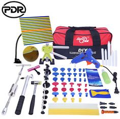 PDR Tools Paintless Dent Repair Tools Dent Removal Dent Puller Tool Kit Reflector Board Puller Tabs Glue Gun Ferramentas (32701676863)  SEE MORE  #SuperDeals
