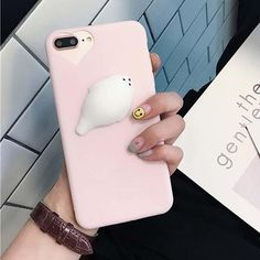 Features: Cute 3D Cartoon Squishi Squeeze Cat Phone Cases Soft Silicone Cover Type: Fitted Case Compatible Brand: Apple iPhones