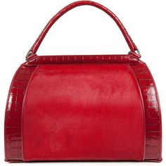 Donna Karan Collection Calf hair leather tote ($2,905) ❤ liked on Polyvore
