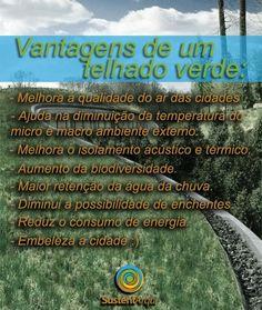Saiba quais são os benefícios de ter uma cobertura verde: #telhadoverde #arquitetura #sustentável https://www.facebook.com/photo.php?fbid=158857177640984=a.149910438535658.1073741826.129790283881007=1