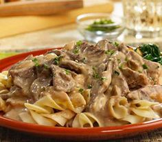 Beef Stroganoff- So good... Easy fix but there never seems to be enough!