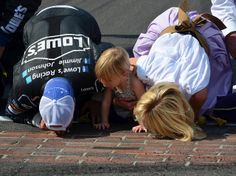 jimmy johnson family gallery | Jimmie Johnson Kissing the Bricks