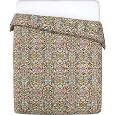Wow, I LOVE this bedding set!!! I want this...  Lucia Full/Queen Duvet Cover in Duvet Covers | Crate and Barrel