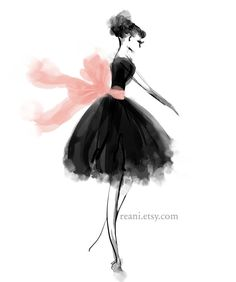Fashion Illustration by Reani on Etsy by Reani on Etsy, $195.00