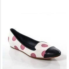 """Johnston & Murphy flats🎉  """"SALE""""🎉 Navy blue and pink polka dot. Used a couple times but in great conditions.sale Johnston & Murphy Shoes Flats & Loafers"""
