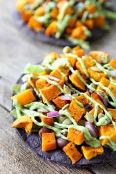 Butternut Squash Black Bean Tostadas--An easy and delicious fall meal ...