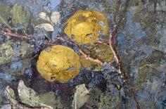 Painted Garden, Villa of Livia, detail with quince | Flickr: Intercambio de fotos