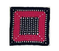 Crochet Just Meshin' Around 12 inch Square free pattern.