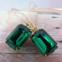 Emerald Earrings Green Earrings Bridal Earrings  Bridesmaid Gift, Emerald Green Earrings Wedding Earrings ~ Angelina Jolie, Christmas by CRystalCRush on Etsy https://www.etsy.com/listing/159867111/emerald-earrings-green-earrings-bridal