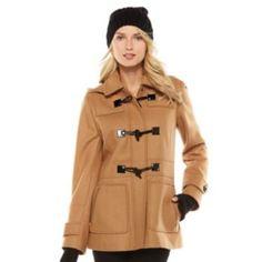 Apt. 9 Hooded Wool Blend Coat - Women's
