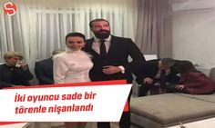 Oyuncu Hande Soral ve İsmail Demirci nişanlandı #handesoral #ismaildemirci #nişantöreni