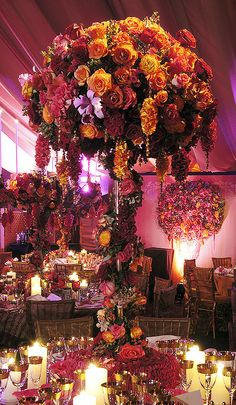 Tall centerpiece, event ideas, preston bailey. # Wedding reception. #www.celebritystyleweddings.com #CelebStyleWed
