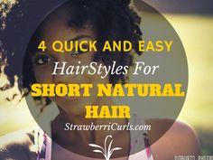 quick short natural hairstyles