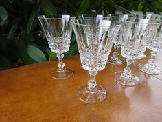 "( 1 ) Cristal d'Arques Durand TUILLERIES VILLANDRY Crystal Wine Glass 5 1/4"" #CristalDArques"