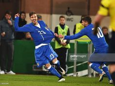 Simone Verdi of Italy celebrates scoring his goal during a U21 International friendly match...
