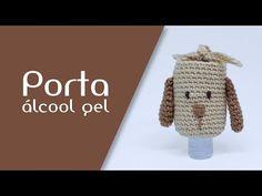 Porta Álcool amigurumi (cachorrinho) - YouTube Diy Arts And Crafts, Crafts To Sell, Crochet Keychain Pattern, Hand Sanitizer Holder, Crochet Mask, Cute Crochet, Lana, Knitted Hats, Crochet Patterns