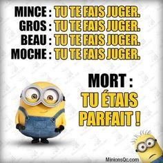dire Minion Humour, Minion S, Citation Minion, French Quotes, Good Humor, Minions Quotes, Adult Humor, Words Quotes, I Laughed