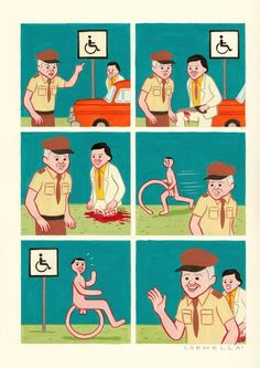 The Weird And Wonderful Comic Art Of Joan Cornellà Funny Images, Best Funny Pictures, Funny Photos, Wacky Wednesday, Bd Comics, Humor Grafico, Kat Von D, Weird And Wonderful, Comic Strips