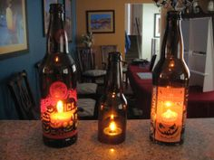 I have so many Halloween beer bottles that I'm never willing to throw out, this would be perfect!