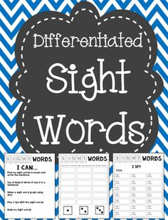 Five different sight word activities that are easily differentiated for literacy work stations.You can edit the pages to add words that your students need. This is a great way to differentiate a workstation if you print the pages on different colored paper!This is also sold my First Grade CCSS Sight Word Bundle.