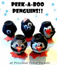 Peek a Boo Penguin Craft & Fun Penguin Facts!!  #penguins #preschoolactivities