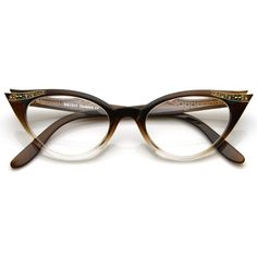 Unique vintage inspired cat eye glasses that are always timeless and always classy. Made with an acetate based frame, metal hinges and polycarbonate lenses
