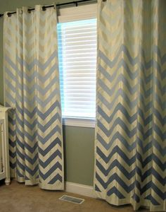 I found some great blue and green chevron curtains that we like! They don't really look like these in the photo, but gives an idea.