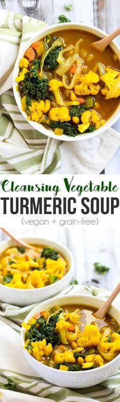 Feed your body all the good stuff with some nutrition-packed Vegetable Turmeric Soup. Anti-inflammatory turmeric will cleanse you from the inside out!