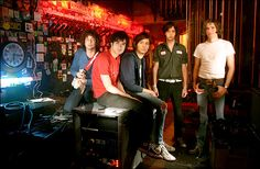 The Strokes are an American rock band from New York City, New York, United States, formed in 1998. The band rose to fame in the early 2000s as a leading group in garage rock/post-punk revival. The band consists of Julian Casablancas (lead vocals), Nick Valensi (lead guitar), Albert Hammond, Jr. (rhythm guitar), Nikolai Fraiture (bass guitar) and Fabrizio Moretti (drums and percussion).