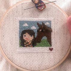 "Bothy Needleworks on Instagram: ""Ponies & Polaroids 🐴"" Polaroid Pictures, Polaroids, Bothy, Ponies, Needlework, Burlap, Custom Design, Cross Stitch, Reusable Tote Bags"