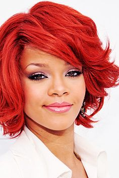 Red Hair Color for Your Skintone: Having red hair isn't just for the fair-skinned, freckled gals. With a little color theory know-how, you too can enjoy a fiery mane. (click for more info.)