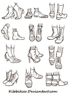 Shoes Reference Sheet by Kibbitzer.deviantart.com on @DeviantArt