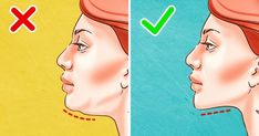 The best way to get rid of a double chin is usually through diet and exercise. If you'd like to lose weight your chin area, there are several approaches you Double Chin Exercises, Neck Exercises, Facial Exercises, Toning Exercises, Lose Weight In Your Face, Reduce Face Fat, How To Lose Weight Fast, Reduce Weight, Fitness Workouts