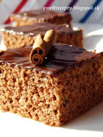 receptyywett : Perník Cream Cheese Bars, Chocolate Cream Cheese, Chocolate Heaven, Slovak Recipes, Czech Recipes, Russian Recipes, Tapas, Love Cake, Something Sweet