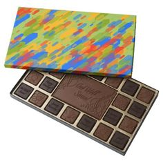 #colorful abstract geometric cool looking design assorted chocolates - #Chocolates #Treats #chocolate