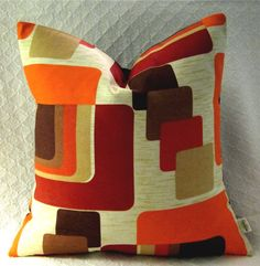 Mid Century Modern Pillow Cover  1960s Mod  by atomiclivinhome, $78.00