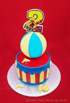 Curious George 2nd Birthday Cake