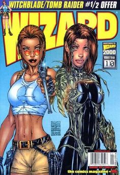 Tomb Raider and Witchblade by Michael Turner 3d Model Character, Comic Character, Comic Movies, Comic Books Art, Avengers Painting, Tomb Raider Lara Croft, Comic Art Girls, Michael Turner, Arte Dc Comics