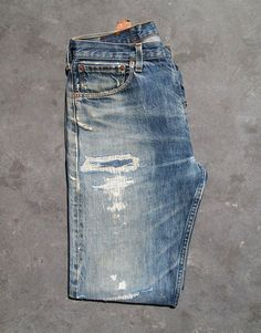 """thedenimfoundry: """" Levis, heavy repair. """""""
