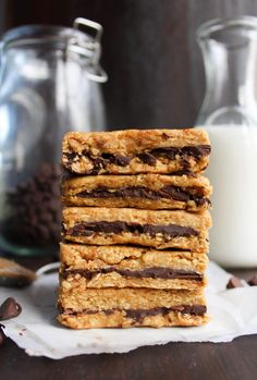Peanut Butter Chocolate Oat Bars