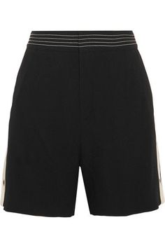 Chloé - Canvas-trimmed Crepe Shorts - Black - FR38