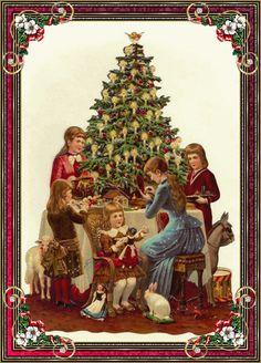Christmas tree and family