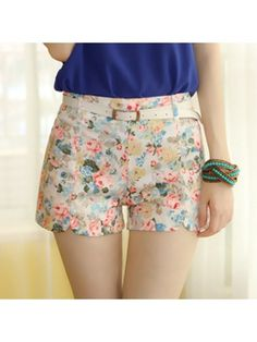 Ladylike 7 Color   Floral Printed Shorts
