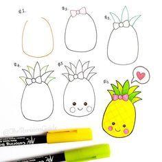 Pineapple ❤ #TRG_RandomDoodle #pineapple ##summer . . . . #doodle…