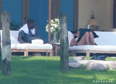 Pin for Later: Kim and Kanye Hang Poolside on Their Second Honeymoon!