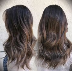 in 2019 brown hair balayage, hair styles, b Ash Brown Hair Balayage, Ashy Brown Hair, Brown Hair Cuts, Brown Hair Looks, Balayage Hair, Ash Brown Hair With Highlights, Brunette Highlights, Color Highlights, Balayage Highlights
