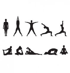 20 best yoga silhouettes images  silhouettes yoga poses