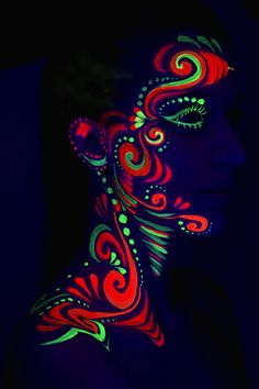uv body painting - Google Search